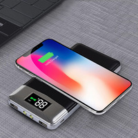 New 10000mAh Wireless Charger Digital Display Mobile Power for Apple 8 Samsung S9 S8 Plus QI Wireless Transmitter