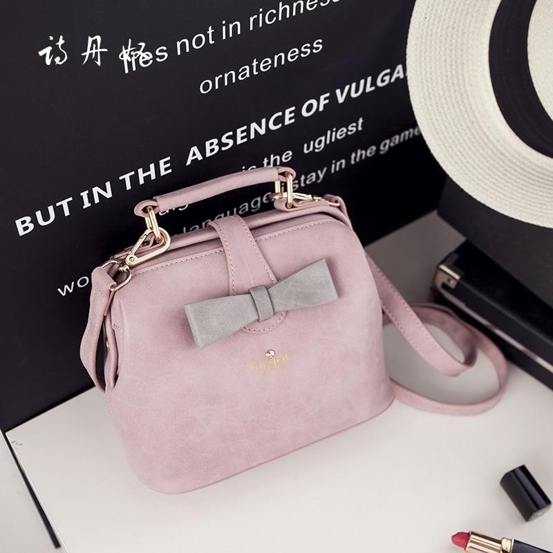 2016 New Designer Women Small PU Leather Handbags Ladies Cute Shoulder Bags Messenger Bags for Girls  Handbag Black Grey Pink