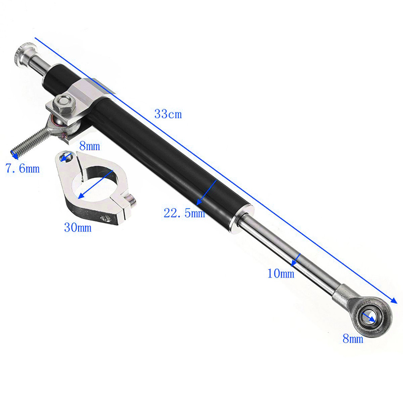 Universal Damper 330mm Aluminum Alloy Motorcycle Steering Fork Stabilizer