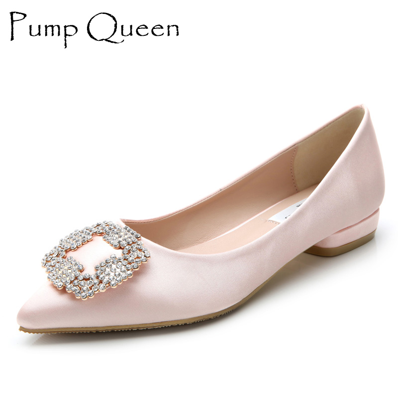 Brand New Elegant Women Flats 2017 Spring Autumn Ladies Shoes Rose Quartz  Slip On Footwear Pointed Toe Zapatos Mujer Black-in Women s Flats from Shoes de319385f49f