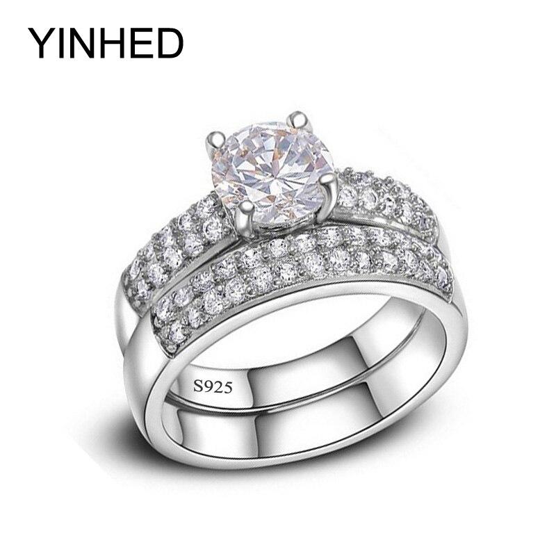 Aliexpress.com : Buy YINHED Women Wedding Band Ring Set