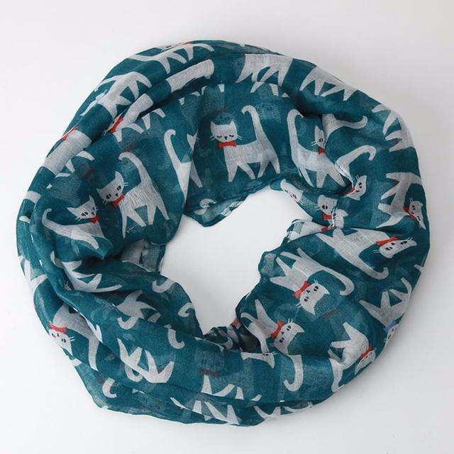 Cat Printed Pattern Soft Scarf 4
