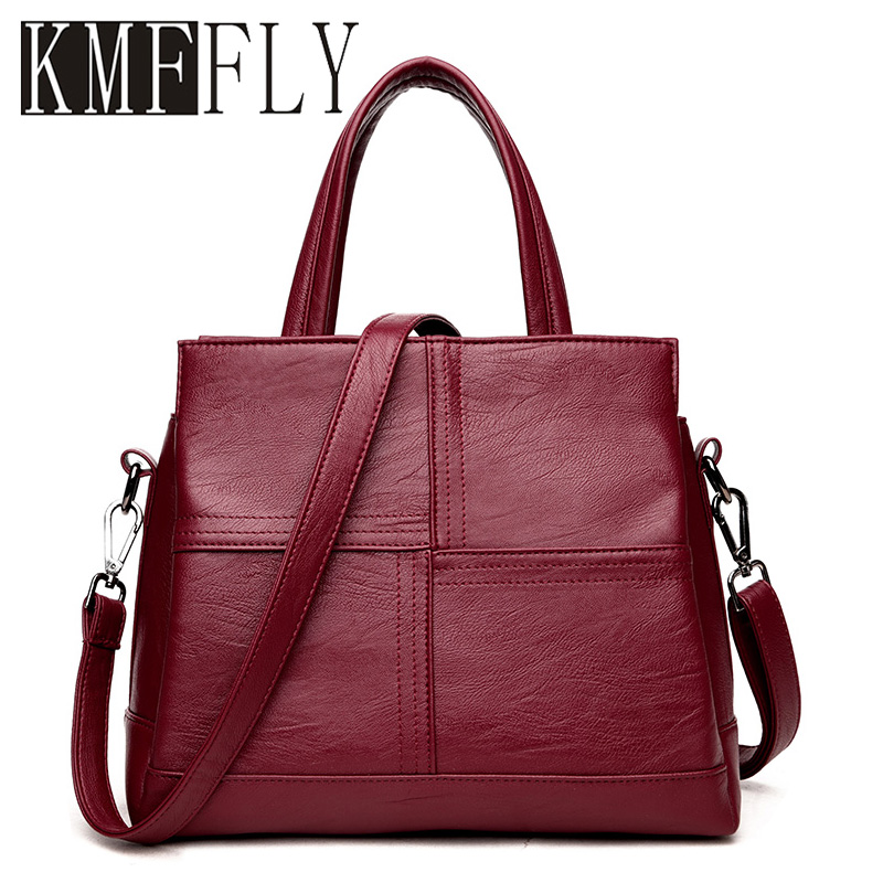 Fashion Women Leather Handbag Luxury Handbags Women Bag Designer Shoulder Bags Female High Quality Famous Brand Bolsa Feminina luxury genuine leather bag fashion brand designer women handbag cowhide leather shoulder composite bag casual totes