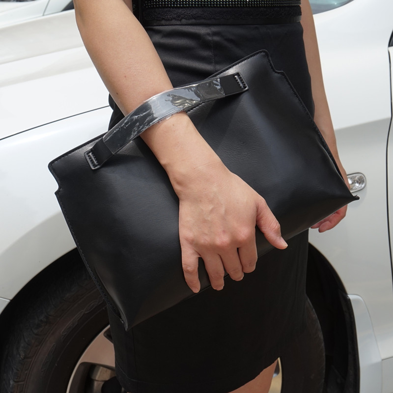 Women Clutches PU leather women envelope clutch bag female evening bag 2017 new Ladies Handbag bolsa feminina Black Totes vintage womens envelope clutch bag pu leather women shoulder messenger bag chain crossbody bags bolsa feminina women s clutches