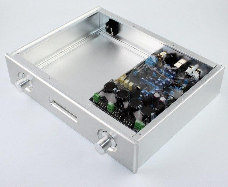 WA48 tous les châssis en aluminium boîtier amplificateur DAC, utiliser pour double AK4495 amp carte DAC décodeur carte de contrôle souple amplificateur boîte