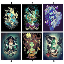 diamond embroidery beauty girl mosaic crystal 5d cross stitch full square drill diamond painting diy sticker decor paintings 5D DIY Full Diamond Painting Cartoon skull Girl Diamond Embroidery Cross Stitch Drill Needlework Mosaic Home Decor Paintings