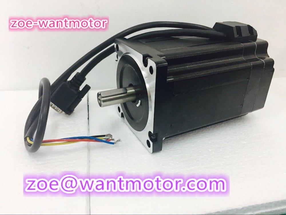 Wantai 1 pc nouveau servomoteur facile 86HBM80-1000-1 NEMA 34 encodeur 1000CPR 9NM 1275oz-in maquillage système en boucle fermée kit de CNC CE Rohs