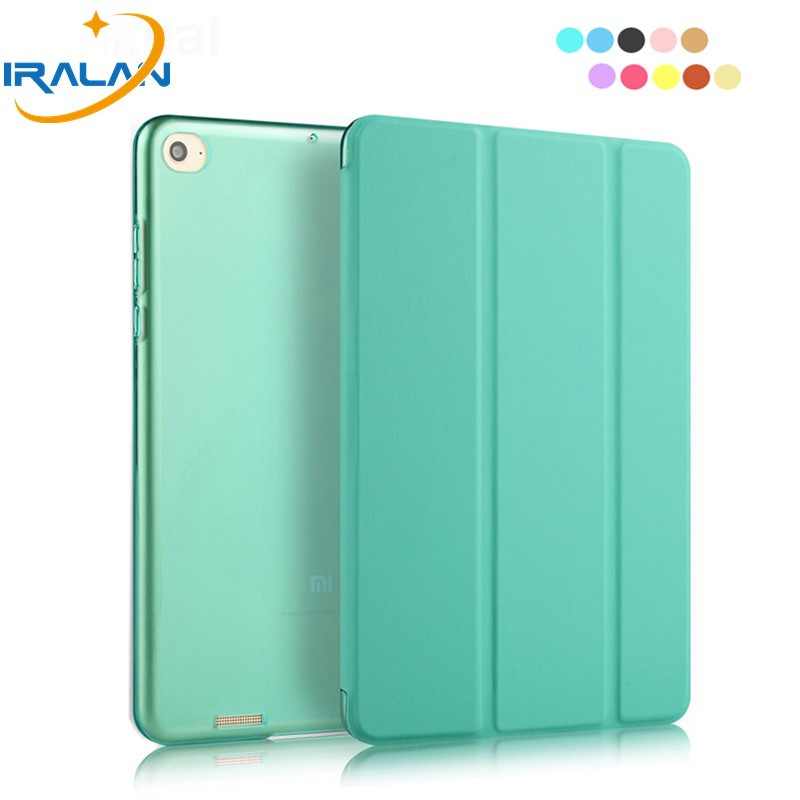 2018 Hot PU Leather Ultra Slim Case For Xiaomi Mipad 1 7.9 inch Hard PC Back Smart Stand Cover for xiaomi Mi Pad 1+ Stylus +film 3 in 1 top quality pu leather case cover for asus memo pad 8 me181c me181 k011 screen film stylus and