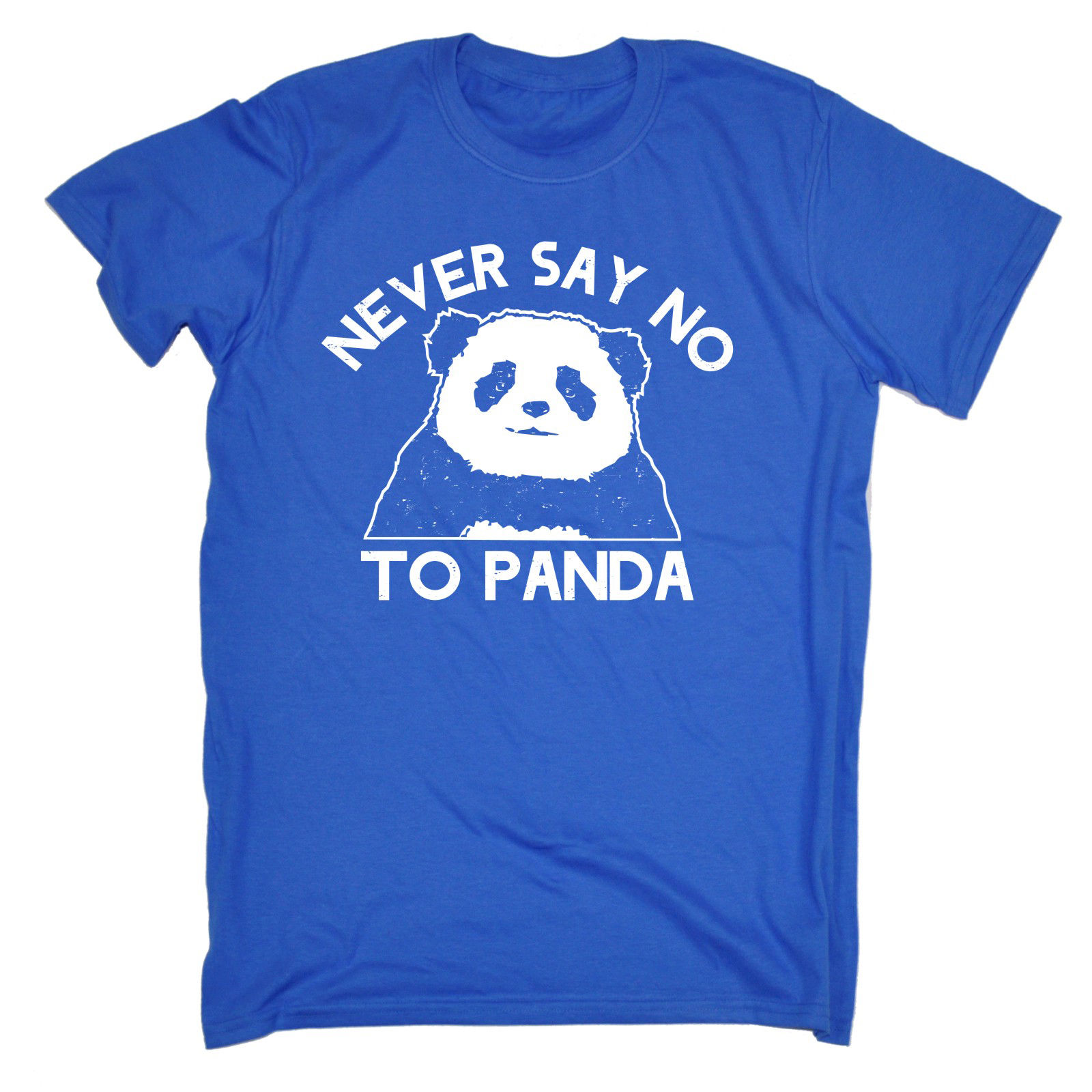Никогда не говори нет Панде футболка смешной подарок на день рождения 123 т подарок для Него футболка лето новинка мультфильм т рубашка футбо...