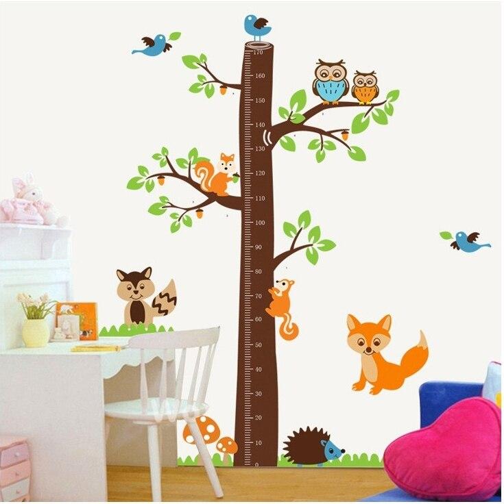 ٩(^‿^)۶Gran árbol ardilla altura medida todas las pegatinas ...