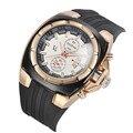 Vogue v6 strips hour marcas round dial quartzo analógico de luxo de borracha de silicone relógio de presente de natal relógios dos esportes dos homens