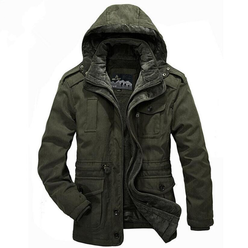 2017 High Quality Casual Winter Jackets Men Cotton-Padded Jacket Brand Thick Fashion Warm military Coat Thick Hooded Windproof