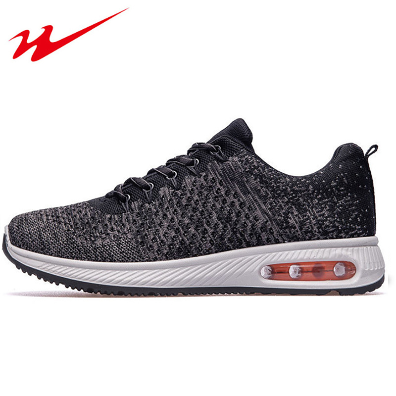 DOUBLESTAR MR Men Running Shoes Male Flyknit Breathable Sneakers Shoes Anti-slip Outdoor Sport Sneakers Zapatos Para Correr
