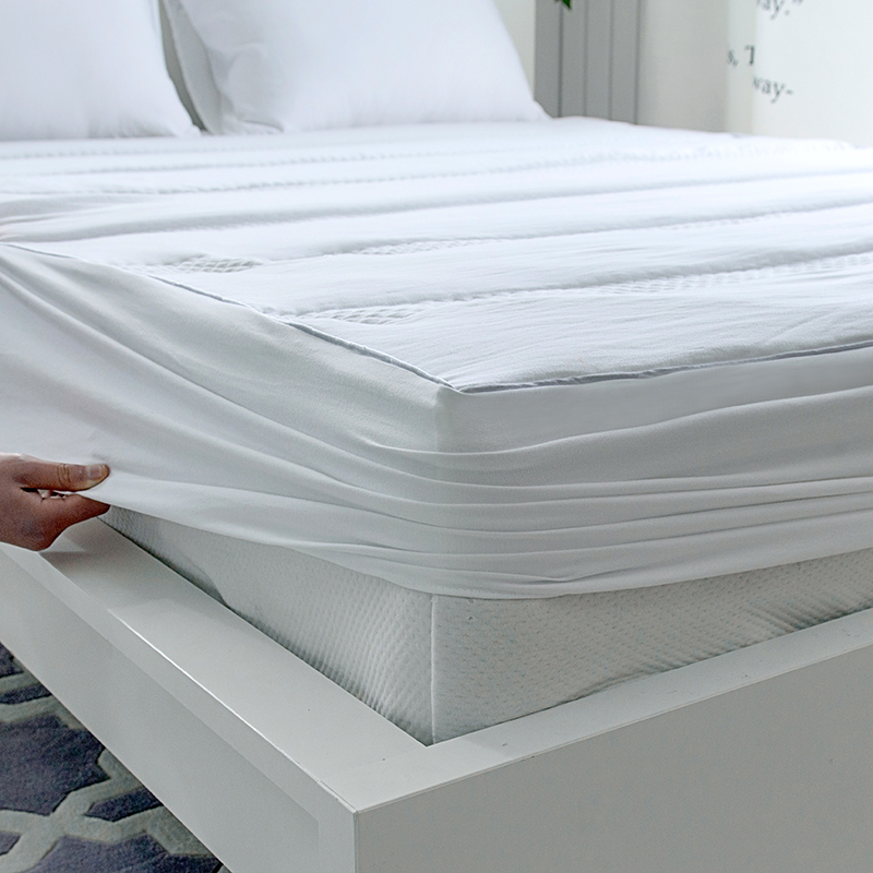 1pc Solid Color Elastic Mattress Cover Washed Cotton Fitted Sheet High Quality Mattress Protector For Bedroom Modern Bed Cover