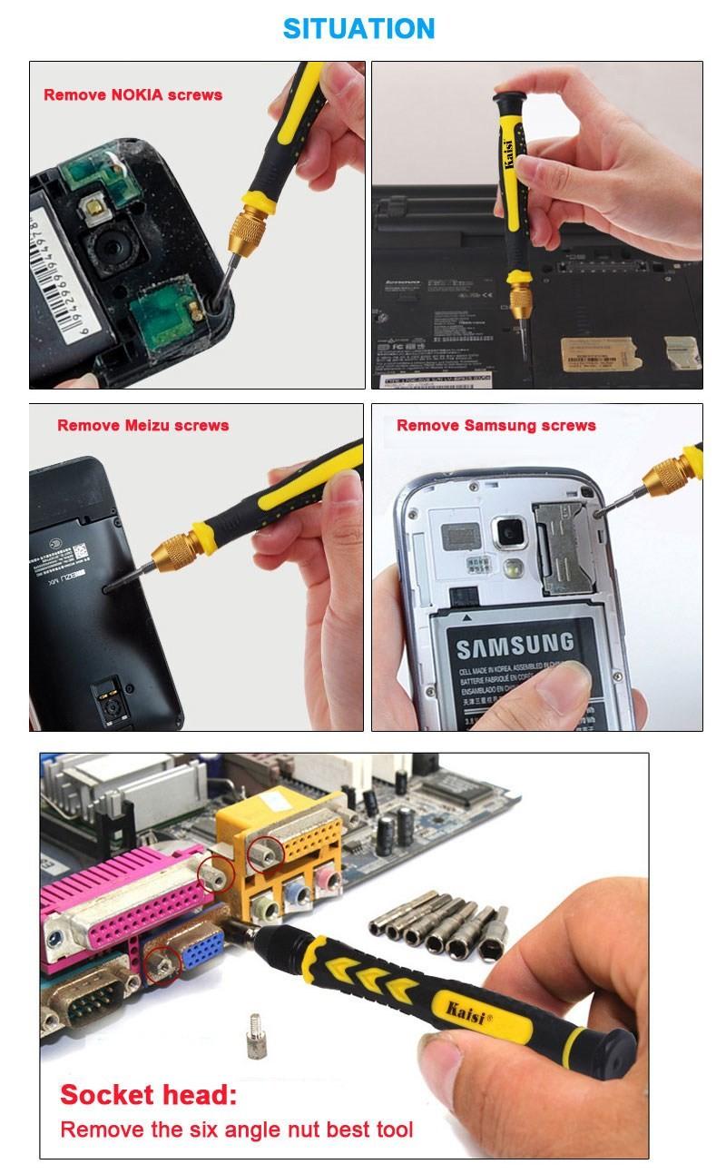 Купить Binoax 21 в 1 Прецизионных Отверток Наборы Инструментов Профессиональный Цифровой Ремонт Инструменты Для Компьютера Мобильного Телефона iphone 4s, 5s, 6 s W027 дешево