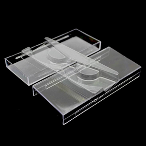 Image 2 - 50 pçs/lote Cílios Acrílico Puxar tipo De Armazenamento Caso Caixa De Embalagem para a caixa de Cílios Transparente Tampa Magnética Bandeja Claro de Alta Qualidade