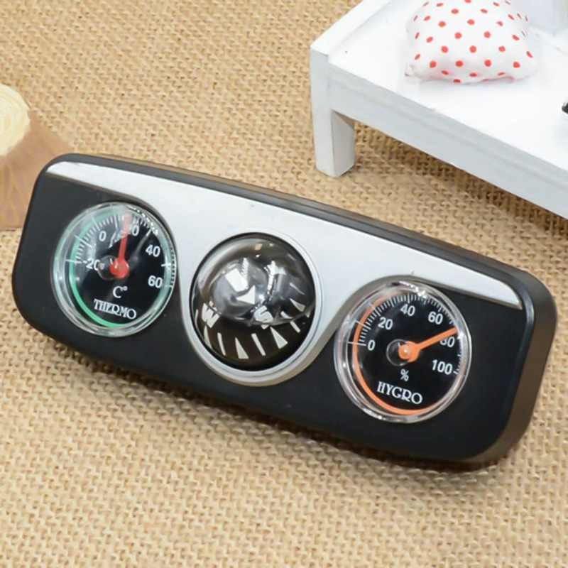Car Ornaments Compass Thermometer Hygrometer For Auto Boat Vehicles 3 in 1 Guide Ball Car Interior Accessories Car Styling