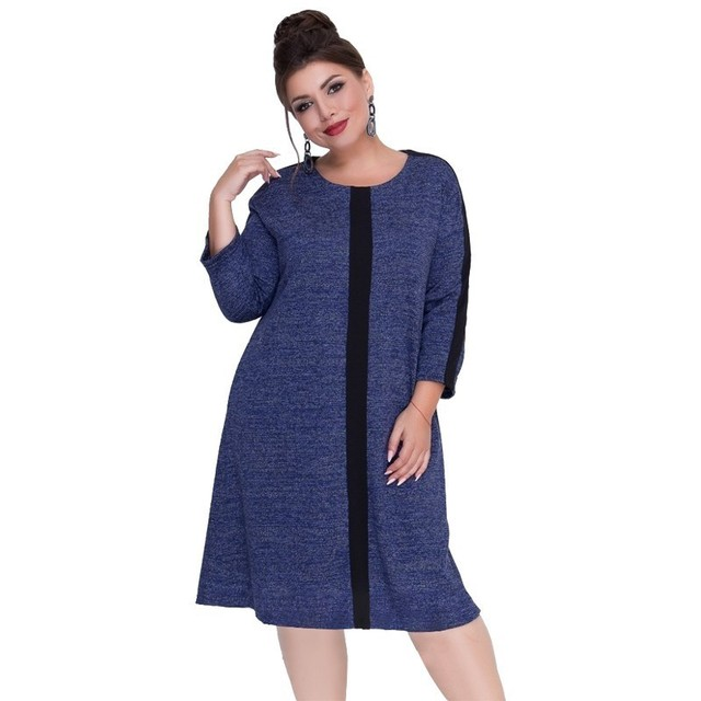 Knitted Women Dress Plus Size Winter Dress Female Christmas Party Dress Flare Large Casual Sweater Dress 5XL 6XL Robe Femme 2018