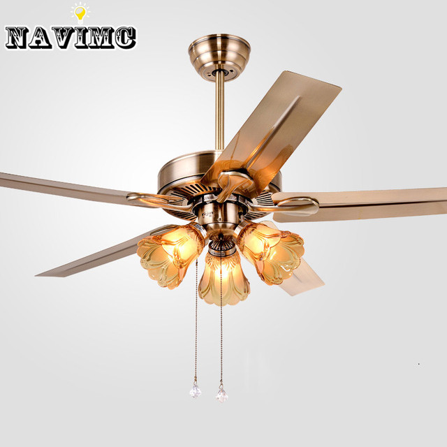 Navimc loft style american country industrial 5 electric fan navimc loft style american country industrial 5 electric fan ceiling fan with light for bar hotel mozeypictures Image collections