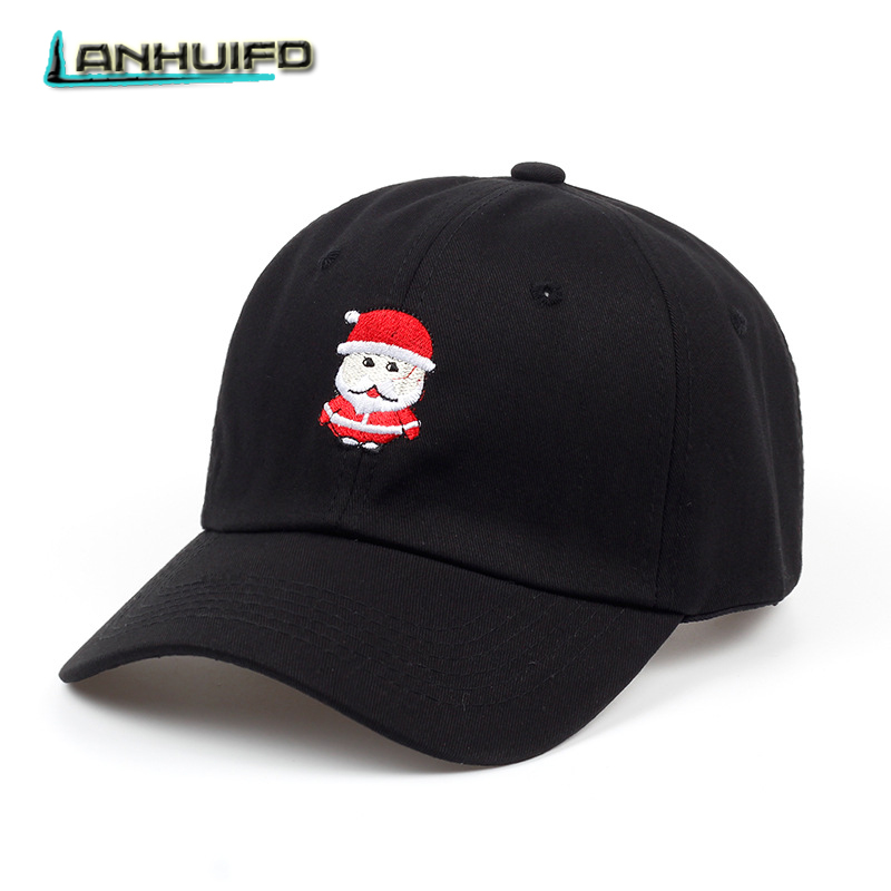 6a9d92500062e LANHUIFD Cartoon Cotton Baseball Cap Hat For Women Men Dad Hat Christmas  Lovely Santa Claus Embroidery