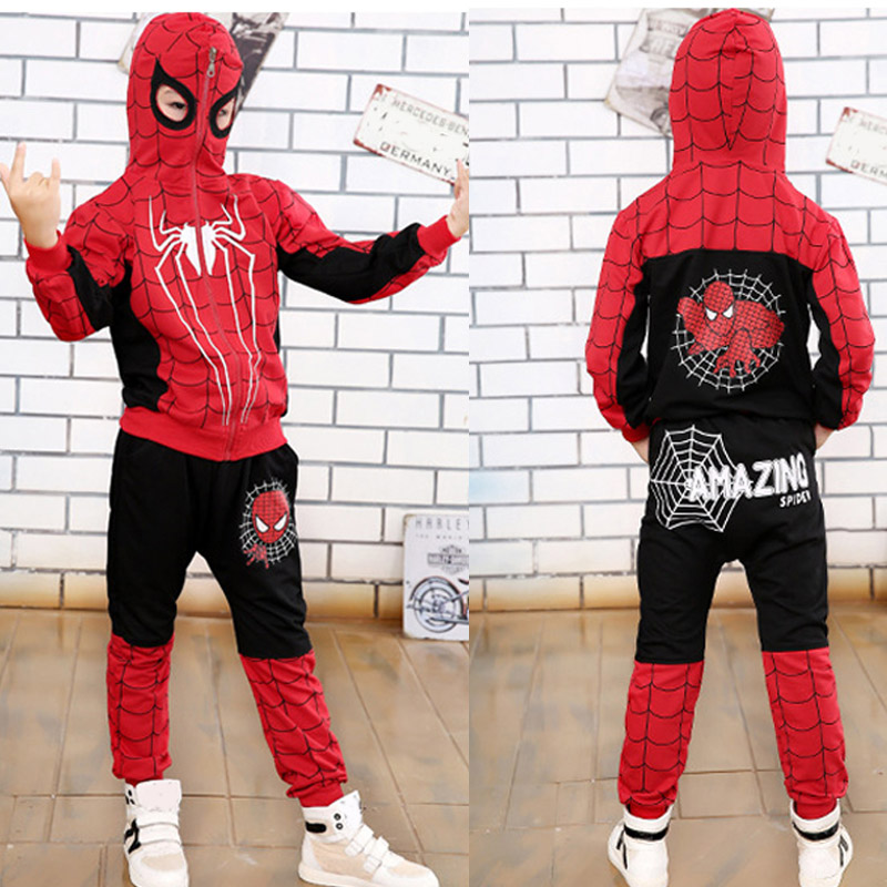 Children Clothing Autumn Winter Toddler Boys Clothes Sets Spiderman Costume Kids Clothes For Boys Clothing Suit 3 4 5 6 7 Year 30