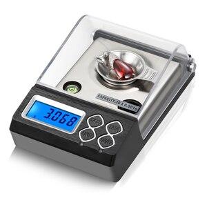 Image 1 - Balanza De Joyería Digital de alta precisión, 0.001g, LCD, miligramo, para contar diamantes, Gema de laboratorio