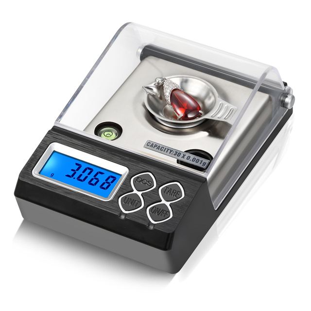 Balanza De Joyería Digital de alta precisión, 0.001g, LCD, miligramo, para contar diamantes, Gema de laboratorio