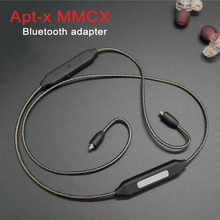 MMCX Apt-X Bluetooth 4.1 Adapter Cable for Shure SE215 SE535 SE846 SE315 UE900 Earphone Replacement Aptx Cables HIFI Headset  mmcx plug bluetooth cable adapter for shure se215 se535 se846 se315 replacement headphone earphone headset silver plated wire