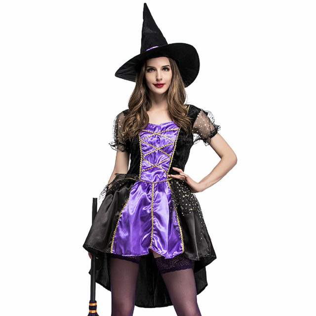 high quality Plus Size Halloween Women Black Sleeping Beauty Witch Queen  Maleficent Costumes Carnival Party Cosplay Fancy Dress 7faaa4fe255d