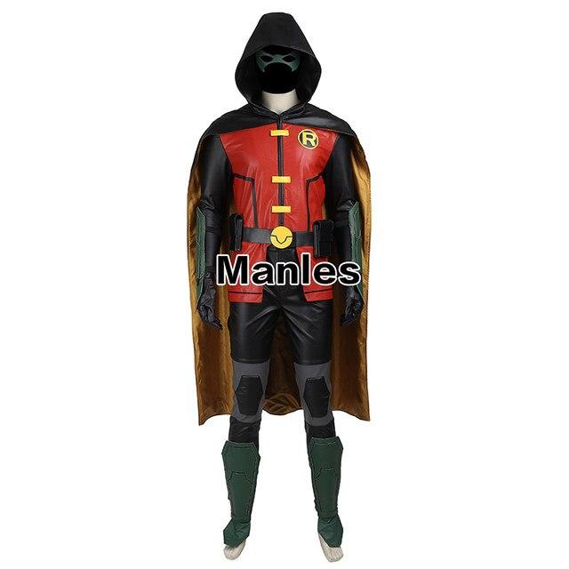 batman robin cosplay costume justice league vs teen titans robin costume adult men halloween costume superhero sci fi costume