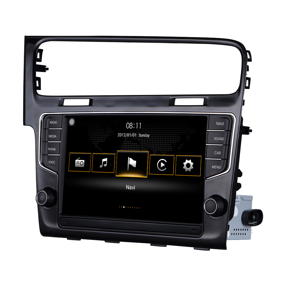 Para VW Golf 7 MK7 2014 2015 Para A Volkswagen MIB Sistema Android Auto CarPlay Quad Núcleo Acessórios Do Carro de Rádio Estéreo GPS de Navegação
