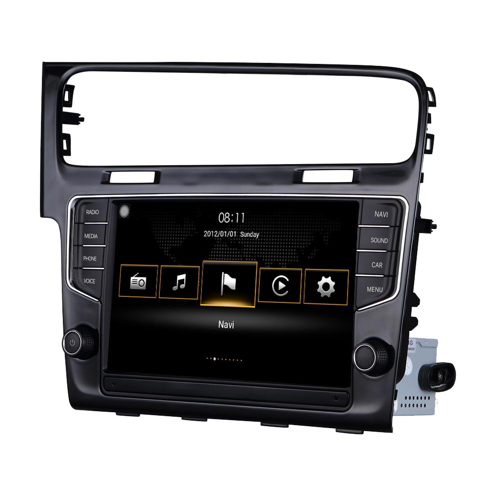 Pour VW Golf 7 MK7 2014 2015 pour Volkswagen MIB système Android Auto CarPlay Octa Core voiture accessoires Radio stéréo GPS Navigation