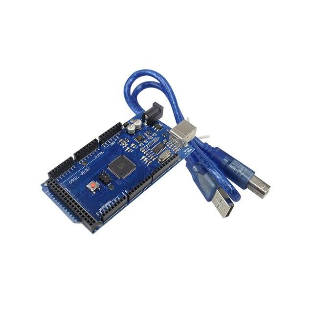 CH340G inteligente Eletrônica Mega 2560 ATmega2560-16AU R3 Development Board com Cabo USB para arduino DIY Starter KIT MEGA2560 REV3