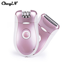 CkeyiN 2 In1 Depilatory Electric Female Epilator Razor Lady Shaver Women Girl Hair Removal For Facial Body Armpit Underarm Leg