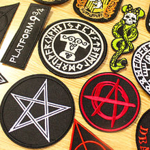 DIY Hook Loop Patch Metal Bands Punk Patches Embroidery For Clothing Iron On Clothes Harry Badge