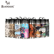 BLACKDEER Portable Motion Outdoor Canteen 600ml Thermos For Sports Camping Hiking Travel 304 Stainless Steel Cup