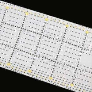 Image 3 - 1 Pcs 15*60 cm תפירה טלאי שליט 3mm עבה שקוף טלאי רגל בעבודת יד Diy חיוני ייעודי טלאים כלים
