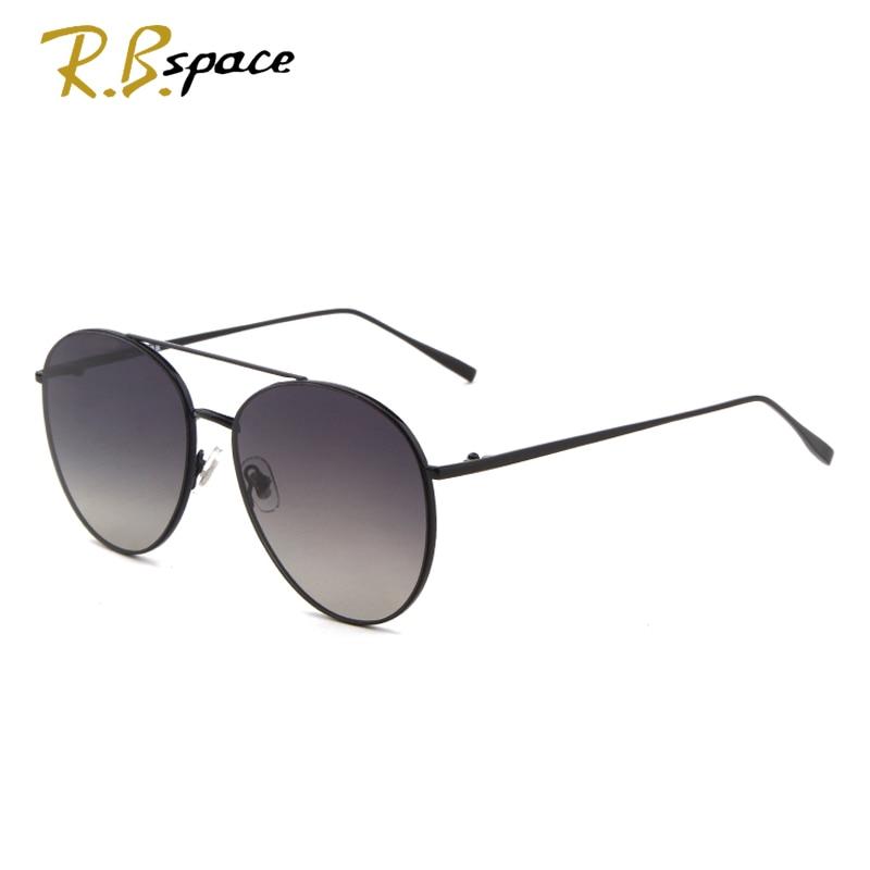 R.B.space Fashion brand designer Sunglasses driving Vintage polarized sunglasses man oversized oval sunglasses men metal frame