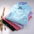 Primavera nuevos hombres de la marca de camisas de hombre de negocios casual camisa de algodón de manga larga Delgado grande de lujo Oxford de los hombres tamaño S-4XL