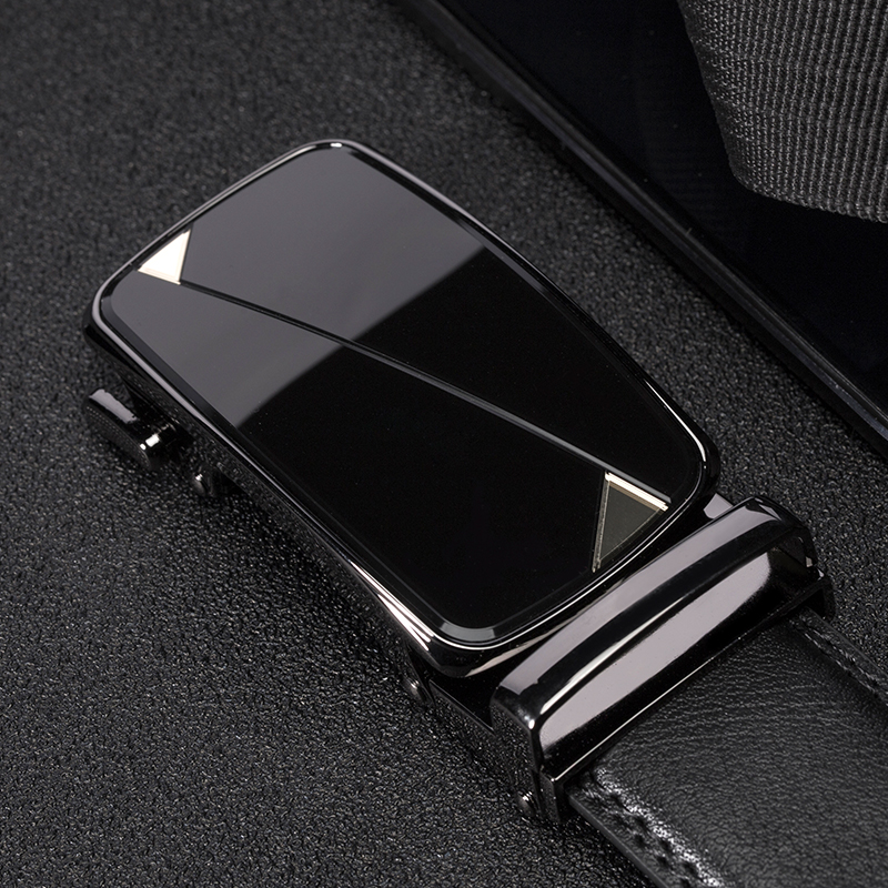 genuine leather Men's   Belts   High Quality Black   belts   for men Brand Automatic Buckle fashion male luxury strap designer   belts