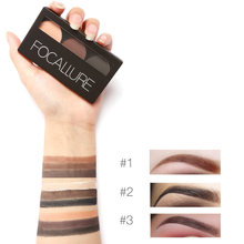 Focallure Eye Brow Makeup Kit Set 3 Color Waterproof Shadow Eyebrow Powder Make Up Palette Women Beauty Cosmetic