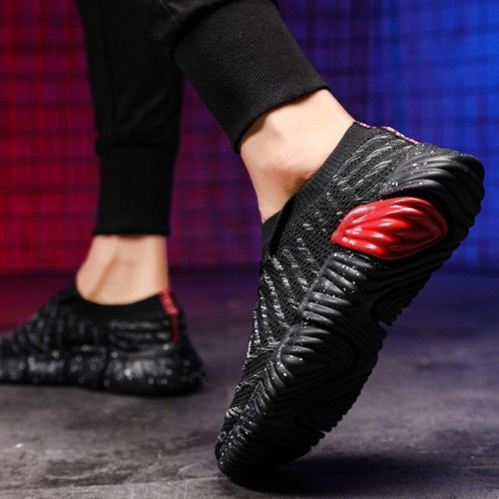 72ea00b8c Стильные мужские кроссовки спортивная дышащая обувь летящая ткань ультра  легкая Нескользящая повседневная спортивная уличная спортивная .
