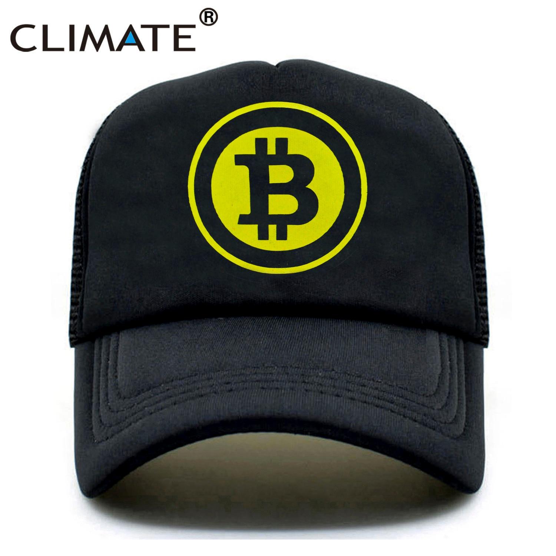 80248833626 CLIMATE New Men Women Trucker Cap Hat BitCoin Bit Coin Mining Funny Caps  Summer Hip Hop