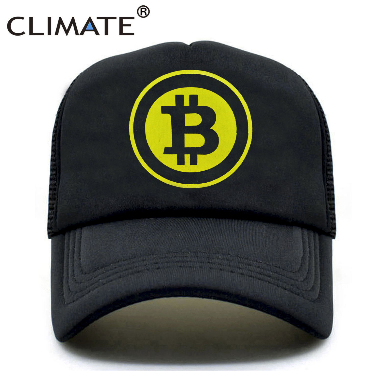 El clima de los nuevos hombres mujeres gorra de camionero sombrero BitCoin poco moneda minería divertido tapas de verano Hip Hop de malla de Caps sombrero para los hombres y mujeres jóvenes