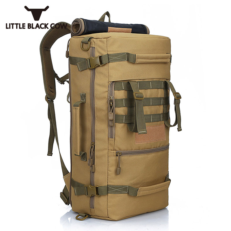50L Military Backpack Molle Nylon Waterproof Bag Mountaineer Men Mochilas Laptop Rucksack Army Backpack Travel Camp Mochila 2017 hot sale men 50l military army bag men backpack high quality waterproof nylon laptop backpacks camouflage bags freeshipping