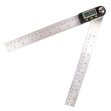 Stainless Steel Angle Ruler 200/300mm Digital Protractor Goniometer Level Measuring Tool Electronic Angle Gauge 0-360 degree
