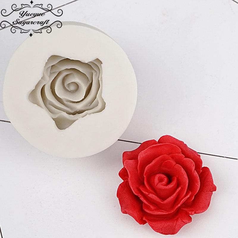 Yueyue Sugarcraft Rose Silicone Mold Cake Decorating Tools Confeitaria Moldes De Silicone Fondant Cake Mold Baking