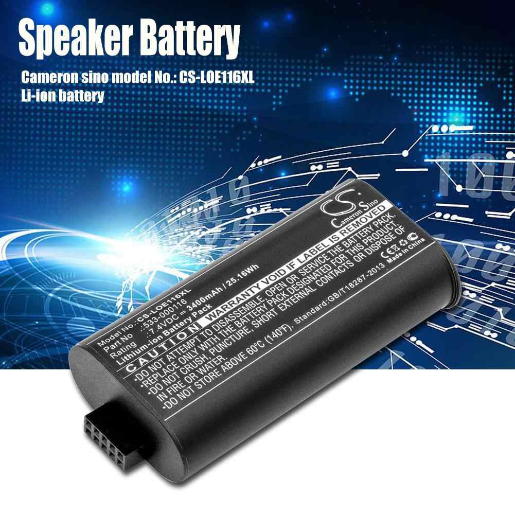 Cameron Sino 3400mAh Replacement Battery 533-000116 for Logitech S-00147,  UE MegaBoom Speaker Battery