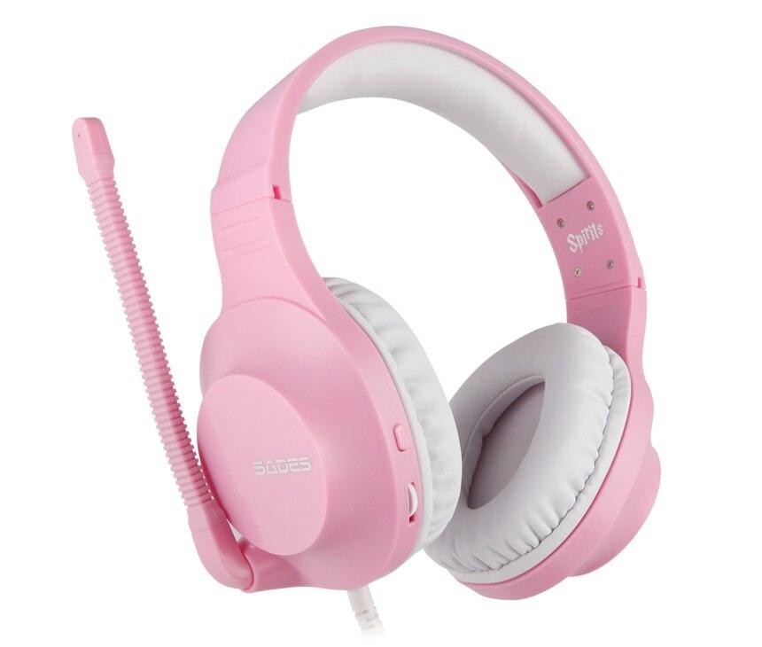 SADES Spirits Gaming Headset Gamer Headphones For PC / Laptop / PS4 / XBOX ONE ( 2015 Version ) / Mobile /VR Pink