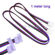 Free Shipping 1m LED RGB cable wire extension cord for LED 5050 RGB Strip connector